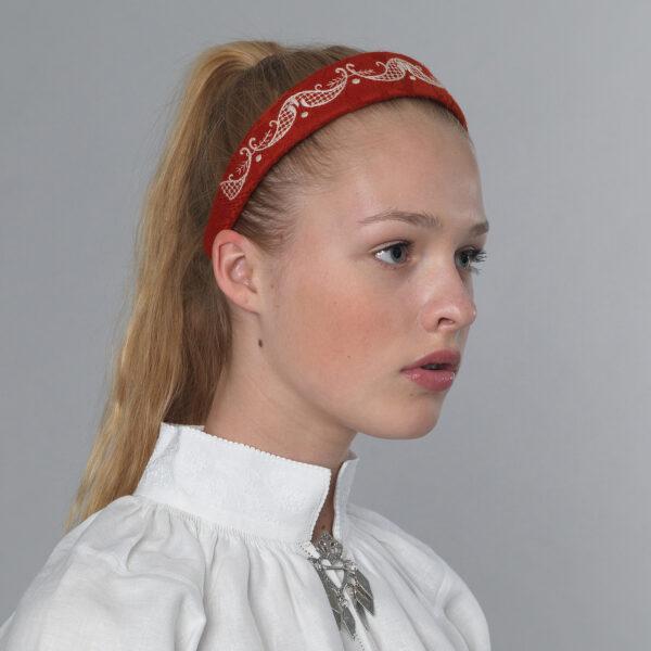 Follo hårbøyle, rød-0