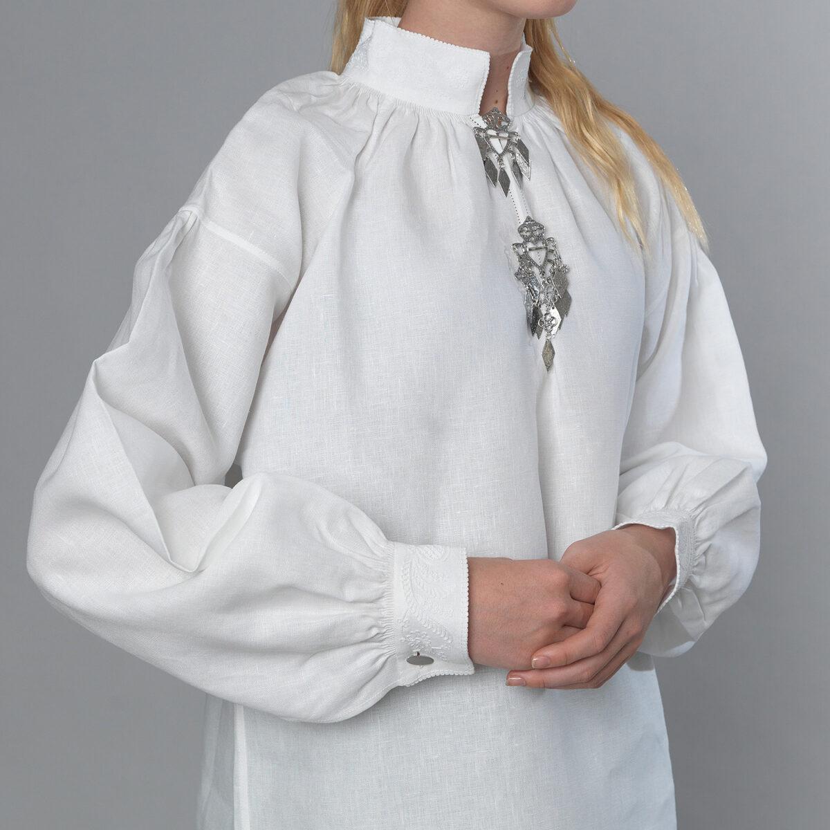 Romerike linskjorte, roser & knuter-478