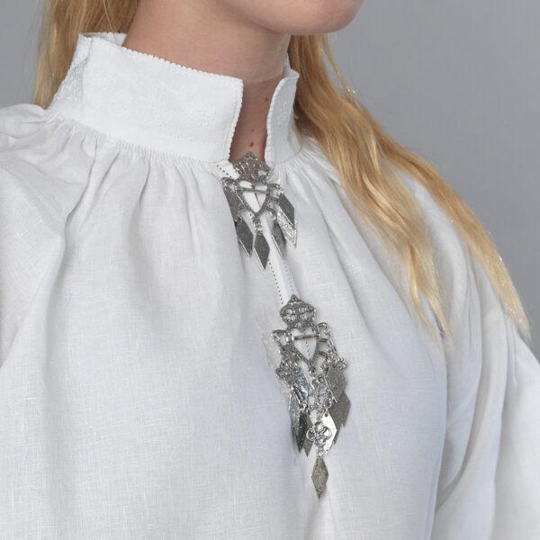 Romerike linskjorte, roser & knuter-0