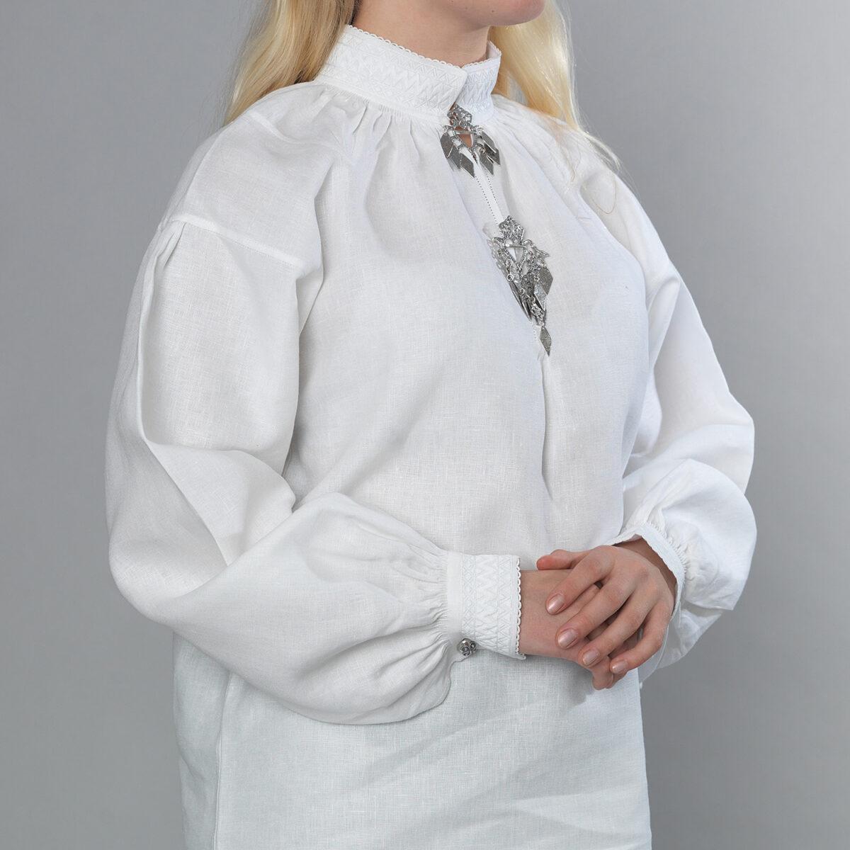 Romerike linskjorte, sikksakk-480
