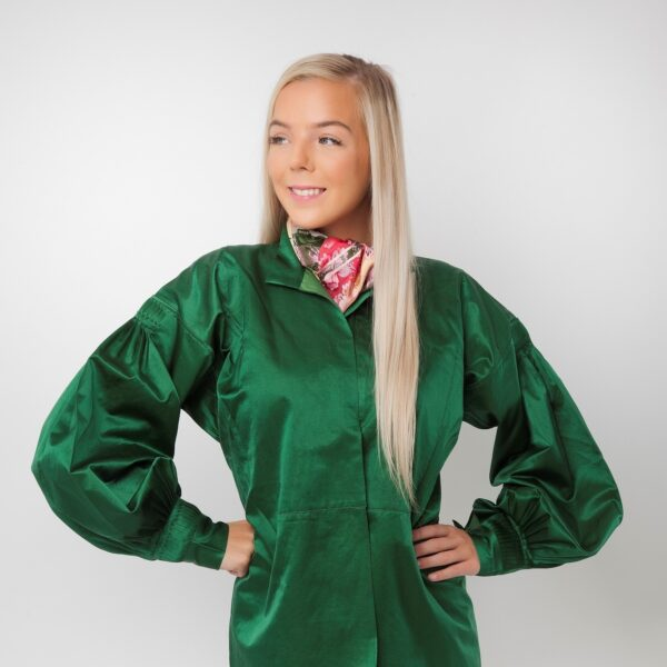 Silkeskjorte, grønn-0