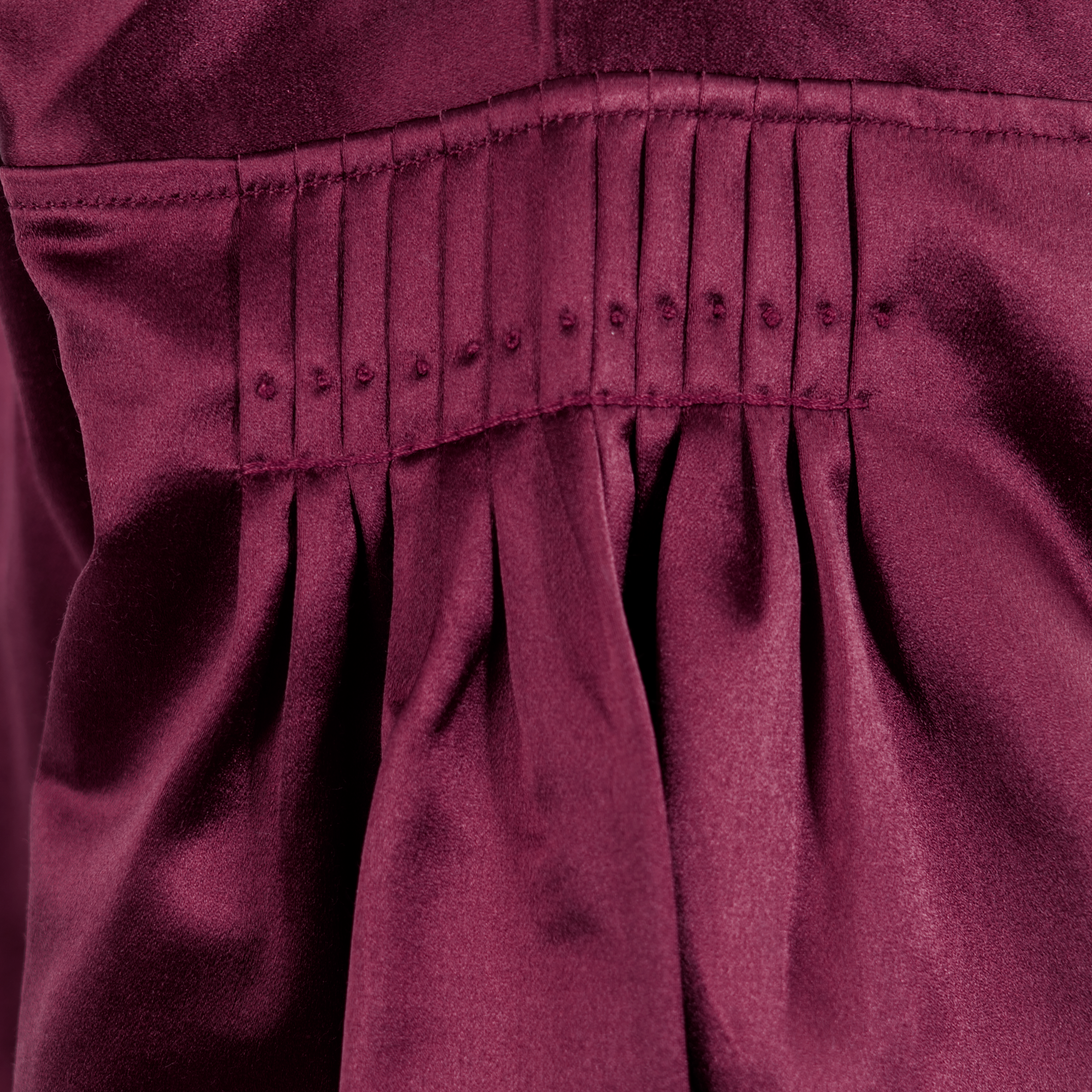 Silkeskjorte, burgunder Embla Bunader